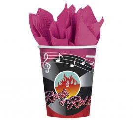 Pack de 8 Vasos Classic 50´s Rock & Roll de 266 ml