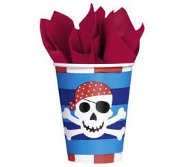 Pack de 8 Vasos de 266 ml. del Tesoro Pirata