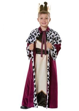 Déguisement de Roi Mage Melchior pour garçon. Plusieurs tailles