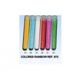 Tubo de Purpurina Rainbow de 3 gr. de color Rojo