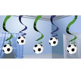 Blister de 5 Colgantes de decoración Championship Soccer