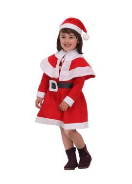 Disfraz de Mamá Noel para niñas de 7 a 9 años