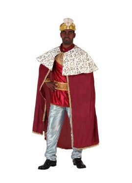 Disfraz de Rey Mago rojo para hombre talla M-L