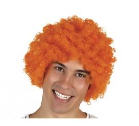 Peluca de Payaso naranja