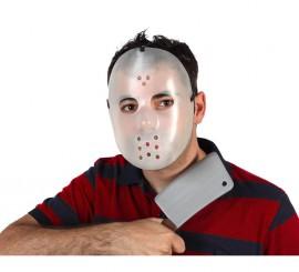 Máscara fluor de Jason con hacha para Halloween