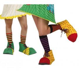 Zapatos de Payaso de 31 cm para mujer. 2 mod. surt