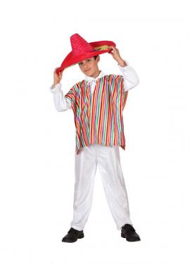 Disfraz de Mejicano para niños de 7-9 años