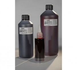 Sangre líquida oscura envase de 500 ml.