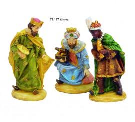 Conjunto 3 Reyes Magos de 12 cms. resina