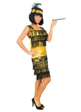 Disfraz de Charlestón dorado mujer