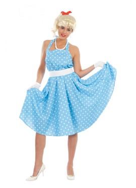Disfraz barato de Chica de los años 50 o 60 para mujer