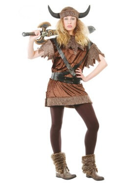Disfraz barato de Vikinga mujer