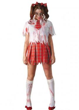 Disfraz de Colegiala Zombie para mujer