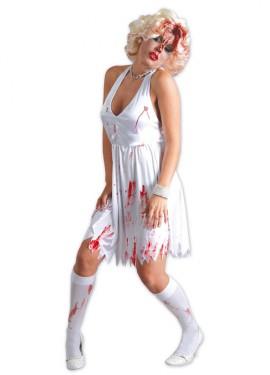 Disfraz de Marilyn Zombie con sangre para mujer