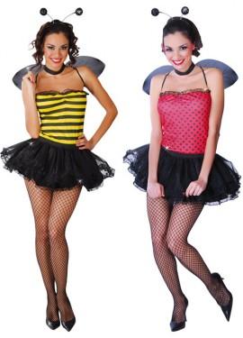 Disfraz de Abeja y Mariquita sexy 2 en 1 para mujer