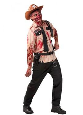 Déguisement de Policier Zombie Halloween pour homme