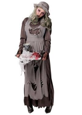 Disfraz de Doncella o Criada Zombie para mujer