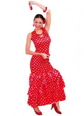 Disfraz de Sevillana Roja para mujer adulta