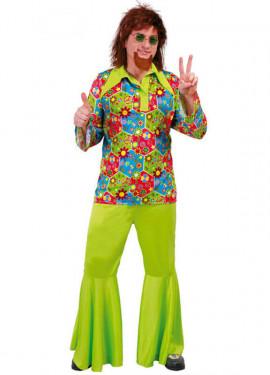 Disfraz de Hippie Flower Power para hombre