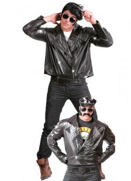 Veste de motocycliste ou de Rockeur noire pour homme