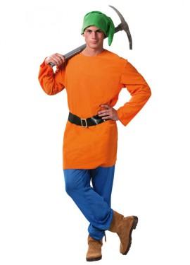 Disfraz de Enanito naranja para hombre