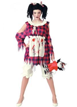 Disfraz de Muñeca de Trapo diabólica para mujer