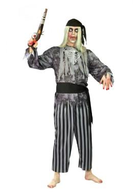 Disfraz de Pirata Fantasma Esqueleto para hombre