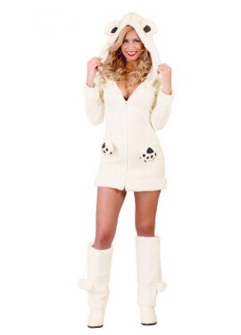 Disfraz de Osita Polar Sexy para mujer talla 38/40