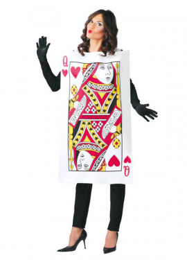 Disfraz de Carta de Reina de Corazones para adultos