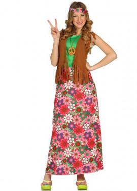 Disfraz de Happy Hippie para Mujer