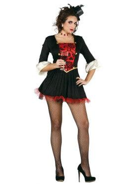 Disfraz de Condesa Vampira para mujer de Halloween