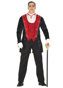 Disfraz de Conde Vampiro para hombre de Halloween