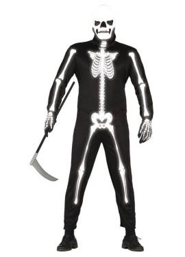 Disfraz de Esqueleto glow in the dark para hombre