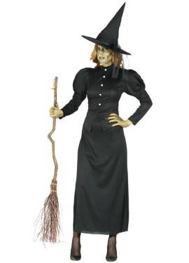 Disfraz para Halloween de Bruja Malvada negro para mujer