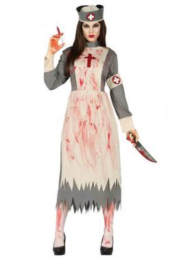 Disfraz de Dead Nurse para mujer en Halloween