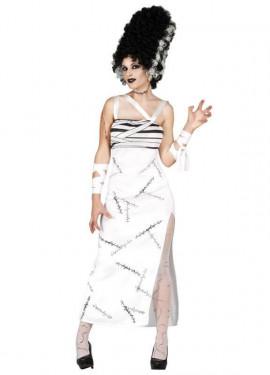 Disfraz para mujer de Novia de Franky para Halloween