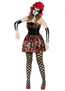 Déguisement de Dame Morte Catrina pour femme Halloween plusieurs tailles
