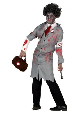 Disfraz de Dead Doctor para hombre en Halloween