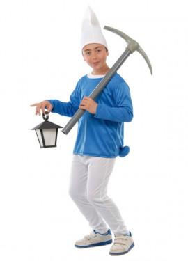 Disfraz de Enanito Azul para niños