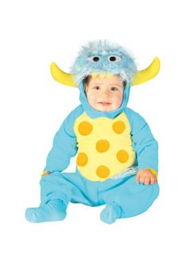Disfraz de Monstruito Baby azul para bebés