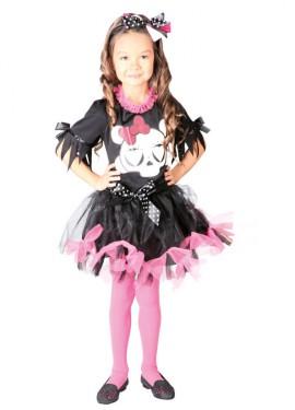 Disfraz de Skull Girl rosa para niñas