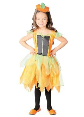 Disfraz de Calabacita naranja para niñas