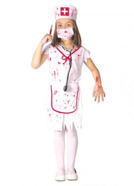 Disfraz de Enfermera Zombie para niñas
