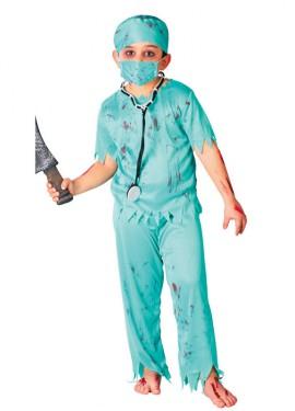 Disfraz de Cirujano Zombie para niños