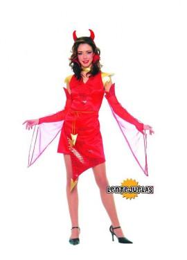 Disfraz  barato de Diablesa mujer para Halloween