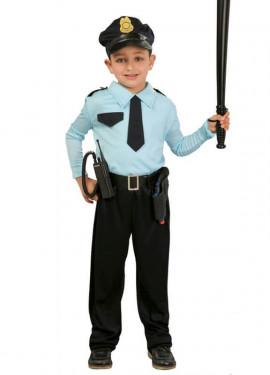Disfraz para niños de Policía azul