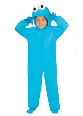 Déguisement de Cookie Monster Bleu enfants plusieurs tailles