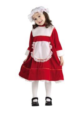 Disfraz de La hija de Santa Claus 1-2 años Navidad