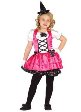 Disfraz para niñas de Brujita con lunares