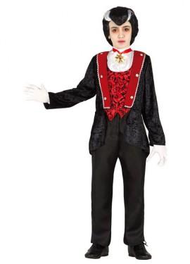 Disfraz para niño de Conde Vampiro para Halloween